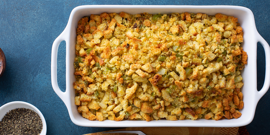Sausage and Herb Stuffing by Chef Andrew Olitsky